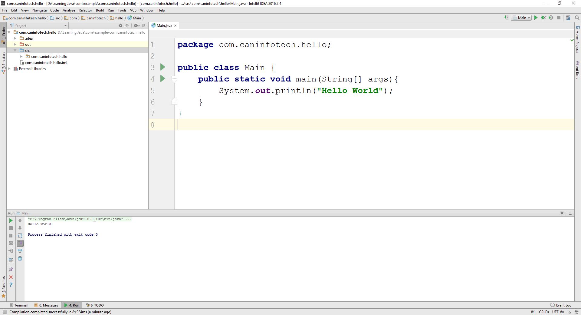 Hello World in Java
